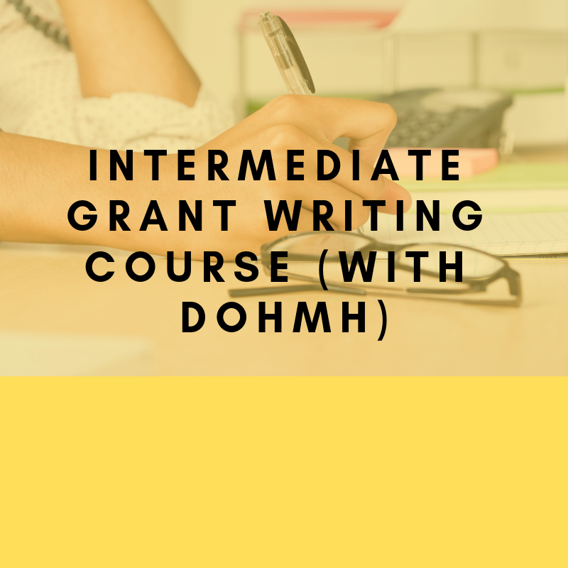Intermediate Grant Writing course (with DOHMH)